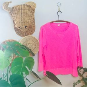 J. Crew vintage look lite hot pink pullover